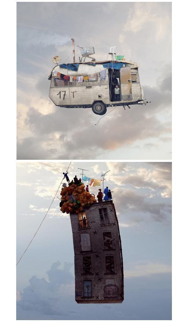 Flying houses - paris - laurent chehere