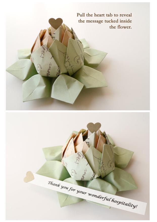 Suzette Roberts Folded Flower Favors