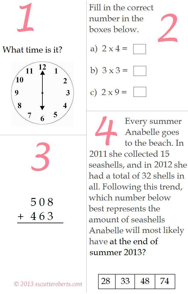 suzette roberts - // One Minute Math: Grade 2 - 3 Transition (II)
