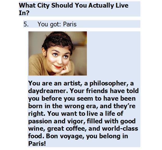 Suzetteroberts - where should you live - quiz