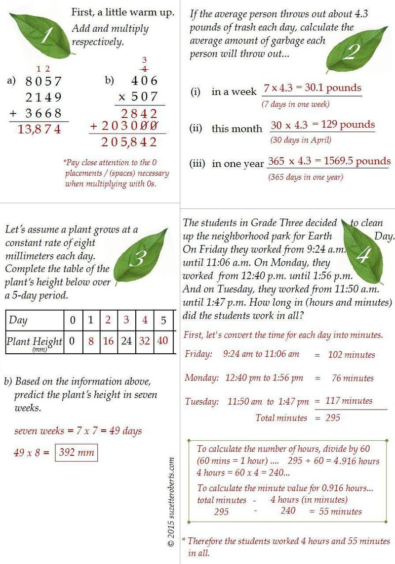 Suzetteroberts - you do the math - answers for 04 22 15