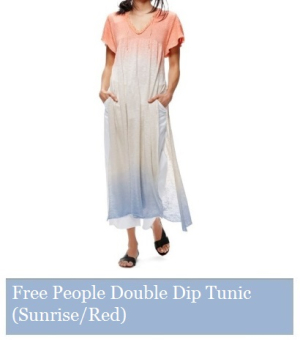 Free People Double Dip Tunic (Sunrise Red)