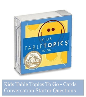 Kids Table Topics To Go - Cards