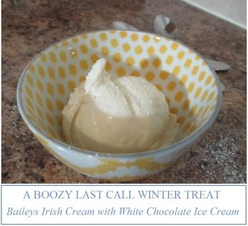 Suzetteroberts - a boozy last call winter treat - baileys irish cream with white chocolate ice cream