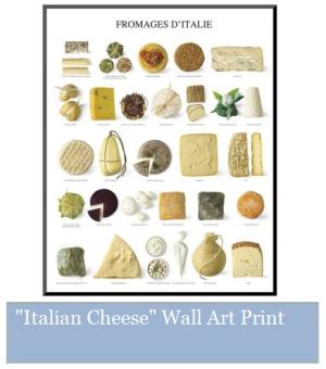 Italian Cheese Wall Art Print