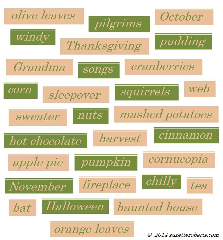 Suzetteroberts - classroom connections - fall words - 2014
