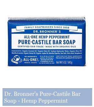 Dr. Bronner's Pure Castile Bar Soap - Peppermint