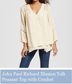 John Paul Richard Illusion Yolk Peasant Top