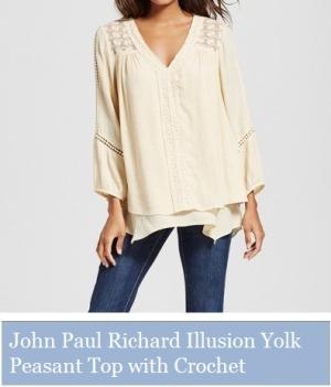 John Paul Richard Illusion Yolk Peasant Top