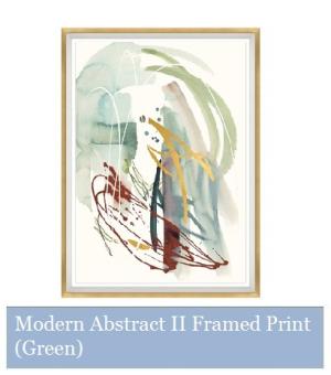 Modern Abstract II Framed Print (Green)