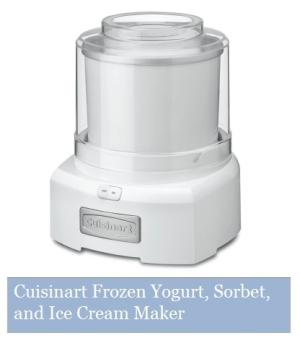 Cuisinart Frozen Yogurt  Sorbet and Ice Cream Maker