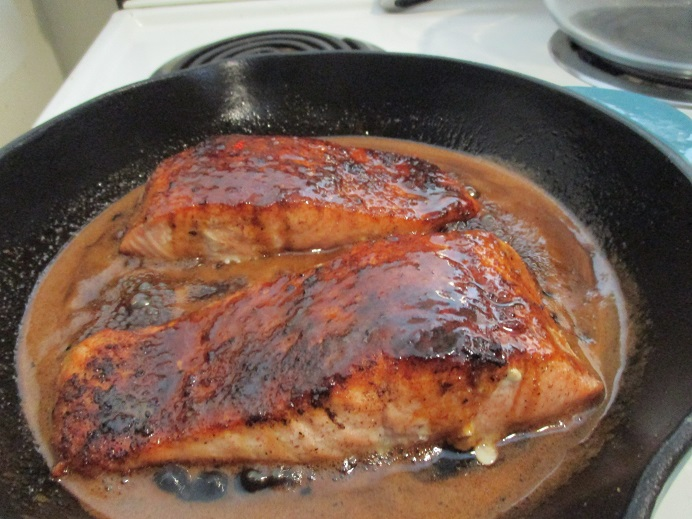 Suzetteroberts - honey soy salmon - 02 2019 - salmon in honey  soy  and lime sauce