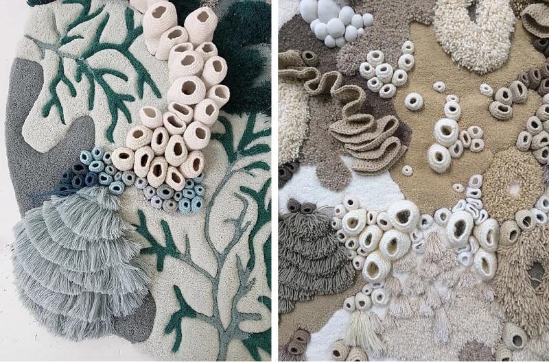 Suzetteroberts - art - 01 2020 - what women create - vanessa barragao - ocean tapestry  bleached coral