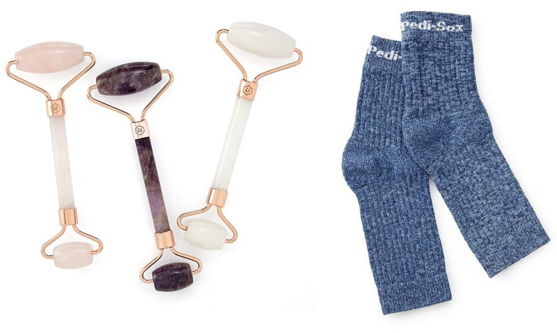 Suzetteroberts - beauty and fashion - 05 2020 - mother's day lovelies - facial roller and pedicure socks