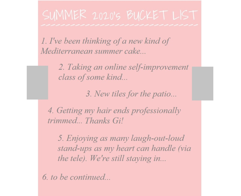 Suzetteroberts - classroom connections - 06 2020 - summer 2020's bucket list