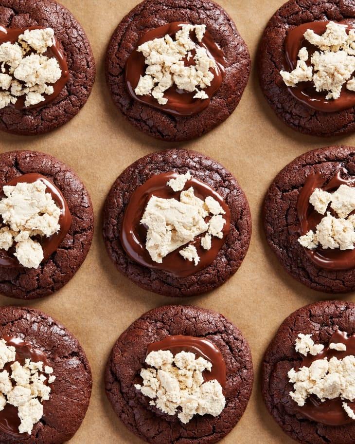 Suzetteroberts - art and design - 12 2020 - chocolate halawa cookies - amanda saab