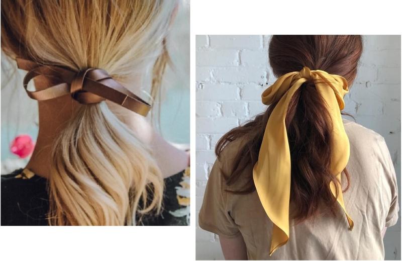 Suzetteroberts - beauty and fashion - 11 2020 - holiday metallics  five ways - hair ribbons
