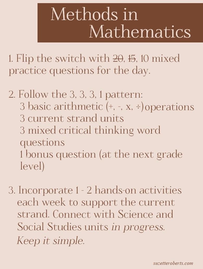 Suzetteroberts - classroom connections - 09 2021 - methods in mathematics  K - 6